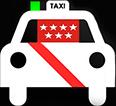 logo de taxi custom van Madrid la empresa líder en traslados al aeropuerto para 5 6 7 y 8 personas con taxis de5 6 7 y 8 plazas especializados en el aeropuerto
